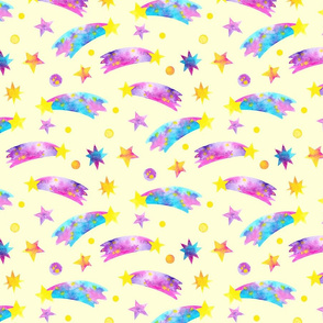 Shooting Stars Yellow