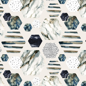 Hexigon Watercolor ~ Wallpaper