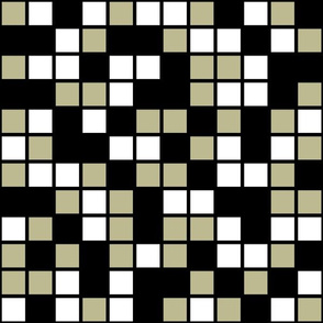 Large Mosaic Squares in Black, Back to Nature Green, and White