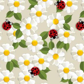 Daisies with Ladybugs