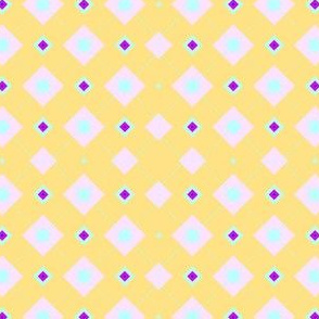 Multi-design in spring colors, yellow background