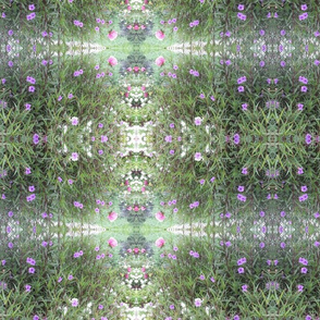 fabric design purple flowers