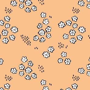 Delicate wildflower field buttercup flower garden spring summer ice cream vanilla apricot