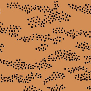 Minimal animal print snake skin inspired texture ink design trend spots and speckles abstract moka brown