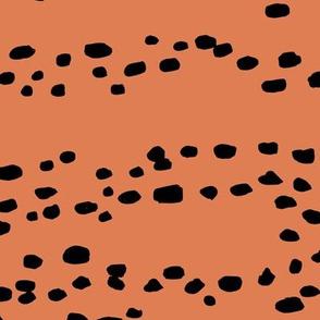 Little fallow deer animal spots minimal trend animal print texture cinnamon rust brown