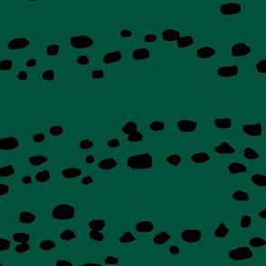 Little fallow deer animal spots minimal trend animal print texture forest green