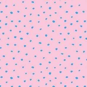 Abstract animals spots and dots texture winter snow flakes pink blue