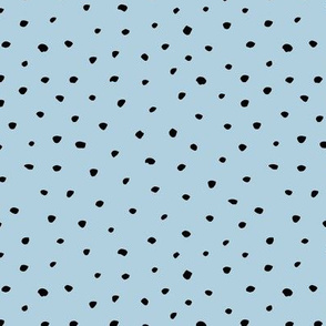 Abstract animals spots and dots texture winter snow flakes cool blue