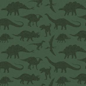 Dinosaurs tonal - green