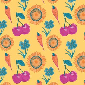 adventure plants pattern wallpaper