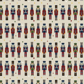 Vector cream seamless pattern background with toys .