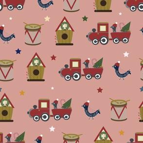 toy train seamless pattern