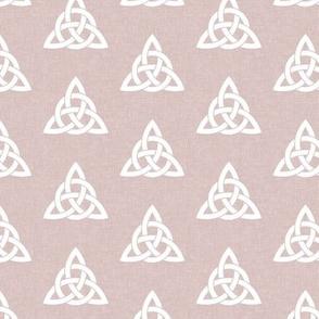 triquetra - trinity knot 2 - mauve - LAD19