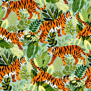 Bright Bengal Tiger Jungle (Large Version)
