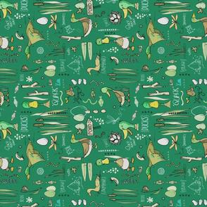 Marvellous Mallards - dark green sideways