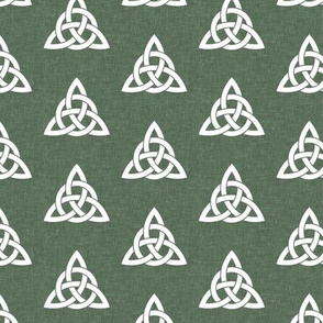 triquetra - trinity knot 2 - green - LAD19