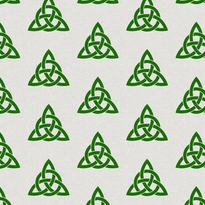 triquetra - trinity knot 2 - green on stone - LAD19