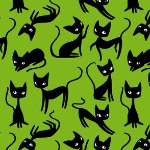 Bunch of Cats - Green