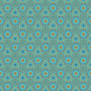 Medallions Caribbean Blue small scale