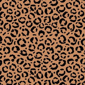 Leopard love animal print surface pattern art licensing abstract minimal fall copper brown