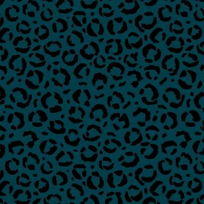 Leopard love animal print surface pattern art licensing abstract minimal winter navy blue