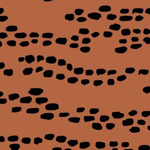 Lovely deer animal print minimal spots and dots trend copper rust brown