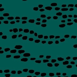 Lovely deer animal print minimal spots and dots trend emerald forest green