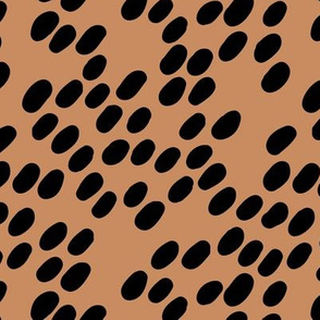 Trendy dalmatian puppy print abstract cheetah spots mocha brown