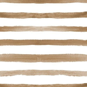 Earthy watercolor stripes ★ painted horizontal stripes for modern home decor, bedding, nursery ★ boho neutral painted