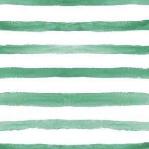 Emerald watercolor stripes ★ soft minimal stripes for modern home decor, bedding, nursery