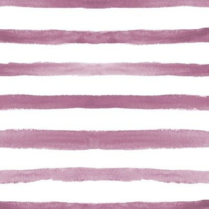 Lilac watercolor stripes ★ painted horizontal stripes for modern home decor, bedding, nursery