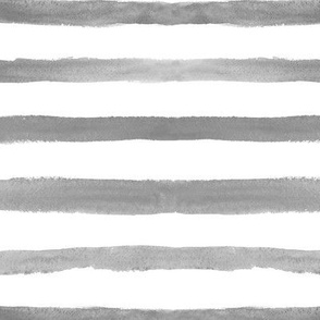 Silver stripes ★ watercolor grey horizontal stripes for modern neutral home decor, bedding, nursery