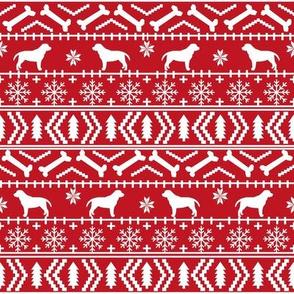 labrador fair isle fabric - dog silhouette fabric, dog fabric, labrador silhouette fabric - red