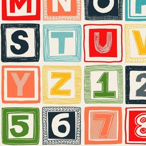ABC patchwork quilt
