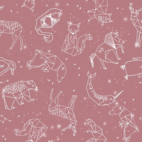 constellations fabric - baby bedding fabric, baby wallpaper, earth toned nursery, gender neutral, muted tones - 2020 colors  -mauve
