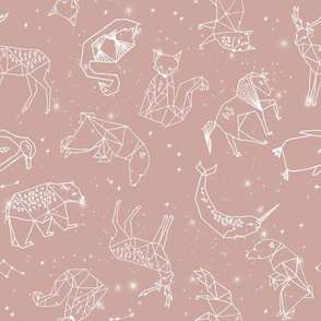 constellations fabric - baby bedding fabric, baby wallpaper, earth toned nursery, gender neutral, muted tones - 2020 colors  - rose