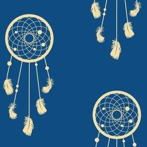 dreamcatcher on pantone classic blue, colour of the year 2020