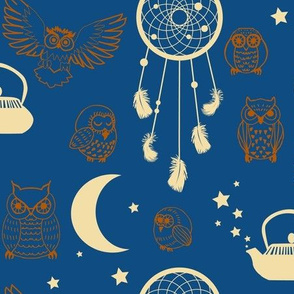 good night owls - Pantone Colour of the Year 2020 classic blue