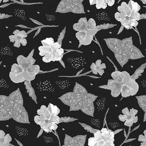 Pansies in shades of grey ~ ©Claudette MacLean