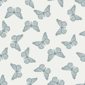 butterfly fabric - girl butterfly fabric, rust baby fabric, earth toned fabric - slate sfx4408