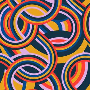 Modernist Swirl - primary color