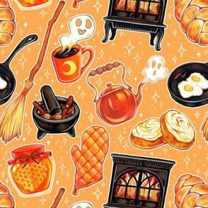 Kitchen Witch Supplies on Orange