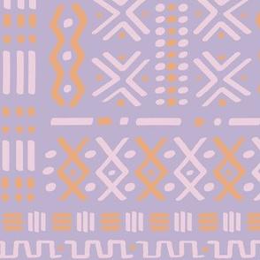 Lilac +  Sorbet Mudcloth