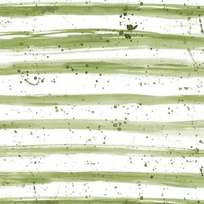 Khaki watercolor stripes and splashes ★ painted brush stroke horizontal stripes for modern home decor, bedding, nursery