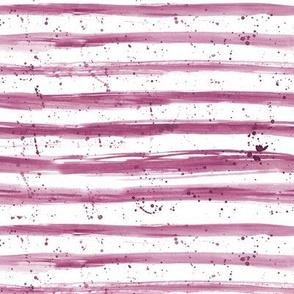Burgundy brush stroke stripes with splatters ★ watercolor horizontal stripes for modern home decor, bedding, nursery