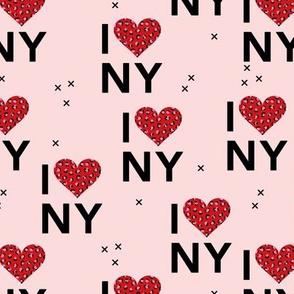 I love New York City romantic valentine travel leopard hearts pink red