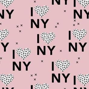 I love New York City romantic valentine travel leopard hearts mauve pink white