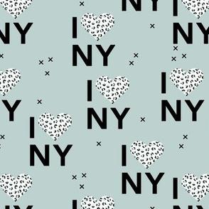 I love New York City romantic valentine travel leopard hearts moody blue