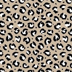 Trendy leopard animal print spotted cheetah fur modern style raw brush classic blue khaki beige neutral
