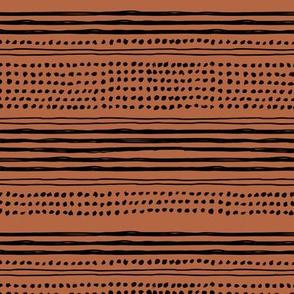 Minimal mudcloth bohemian mayan abstract indian summer aztec design rust copper